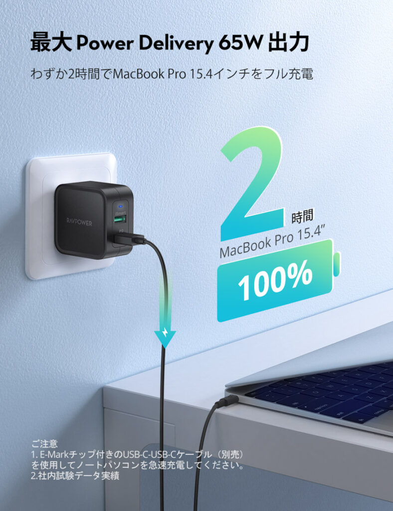 RAVPowerの充電性能