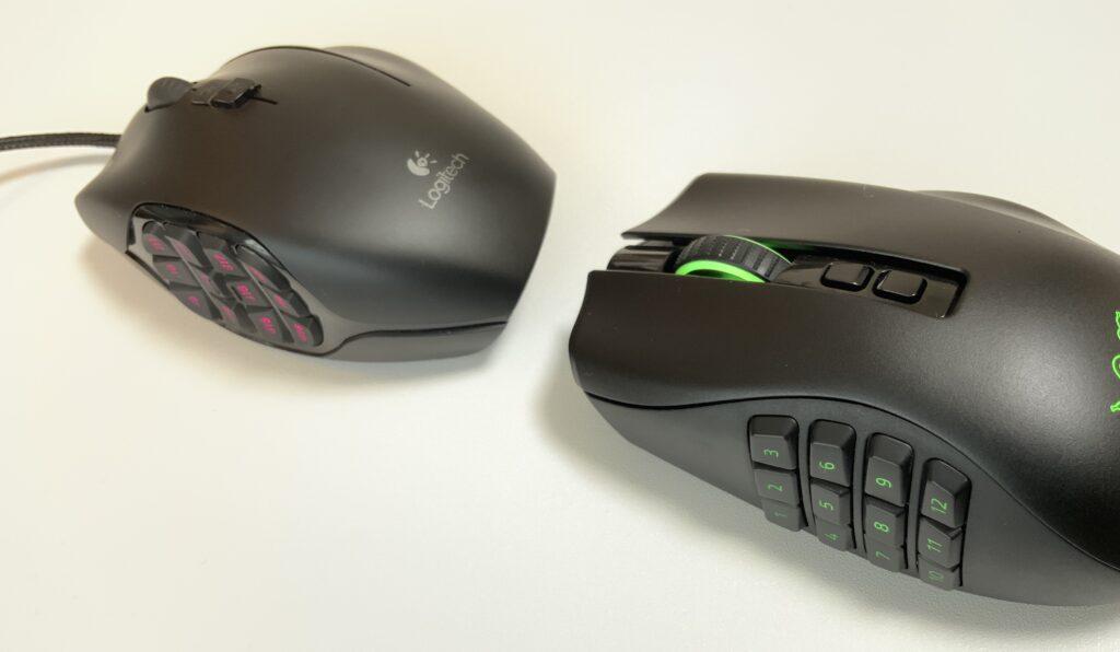 NagaProとG600のボタンの違い